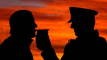 More than 100 people were arrested during a Christmas drink and drug driving campaign in Suffolk. Ph