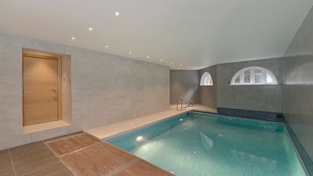 What footballer's home would be complete without its own swimming pool?