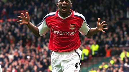 Patrick Vieira, pictured here during his time at Arsenal, demolished his �3 million Hampstead home d