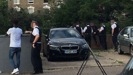Police in Finsbury Park over the weekend.