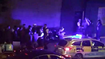 Screen grab from a handout video taken in Hackney after one of the five acid attacks last night. Pic