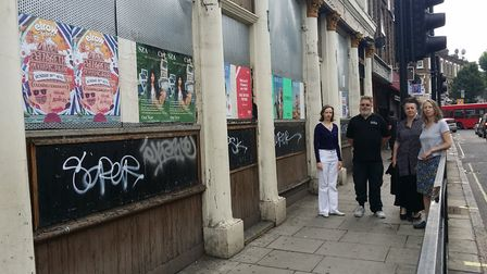 Members of the Maida Hill Neighbourhood Forum (from left to right) Sophie Tennant, Rob Cope, Biljana
