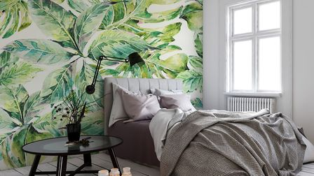Exotic Leaves Wall Mural, from £26 per square metre, available from Wallsauce