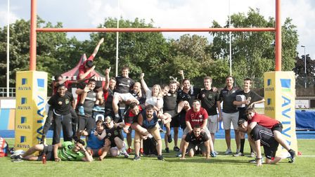 Four Saracens players took part in a community project for children with autism (pic: Saracens RFC)