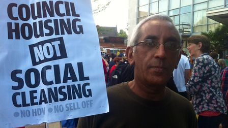 Protester Vivek Lehal, who has lived in Harinegy ten years, described the HDV plan as social cleans
