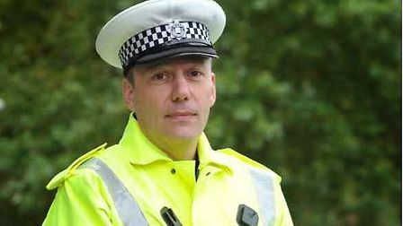 Inspector Chris Hinitt, of the Suffolk and Norfolk roads policing unit. Picture: SUFFOLK CONSTABULAR