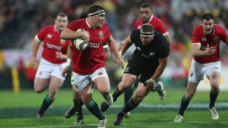 Saracens hooker Jamie George attacks for the British & Irish Lions during their second Test win agai