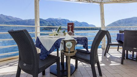The Britannia Excelsior's Lido restaurant with a view of Bellagio