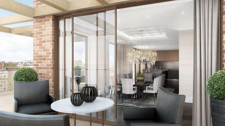 Penthouses at W1 London will feature terraces with wide-reaching views across the London skyline