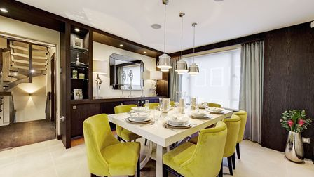Susan Cohen dressed this �4,000 a week home on Shepherd Street in Mayfair with bright pops of colour