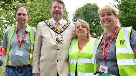 Hornsey Music Festival organisers Andy MacFarlane, Lisa Hyde, and Sally Walker with special guest Ma