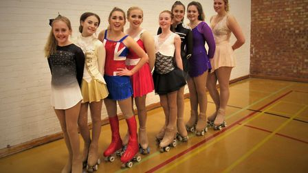 A group of nine Waveney roller skaters travelled to Kettering for their Winter Solo dance competitio