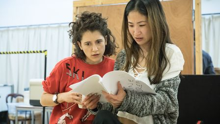 Kae Alexander and Ellie Kendrick in Gloria at Hampstead Theatre. Picture: Marc Brenner