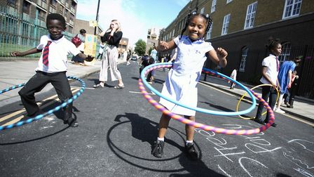 Hackney's 'school streets' scheme was launched on Crondall Street, by St John the Baptist Primary Sc
