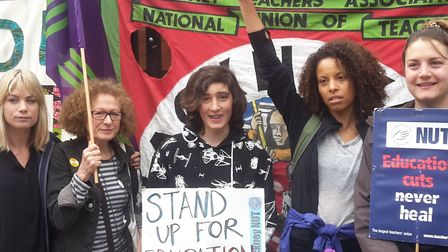 Stoke Newington School was closed today as teachers went on strike in response to education funding