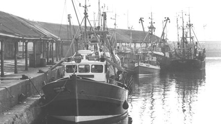 Fishing trawlers in Lowestoft Port. An event raising money for Alzheimer's UK will give attendees th