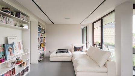The 800 sq ft apartment in Copper Beech was internally modernised by MacKenzie Wheeler Architects an