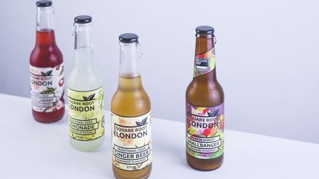 Square Root Soda's soft drinks.