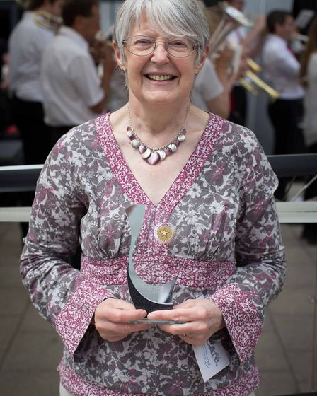 Gill Simpson with her Local Gem award. Picture: Ali Schilling