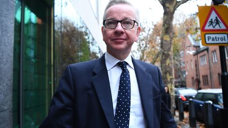 Environment Secretary Michael Gove arrives at his office in Westminster. Photograph: Victoria Jones/