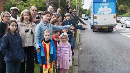 Garden Suburb residents called for a crossing on Falloden Way in September 2015. Picture: NIGEL SUTT