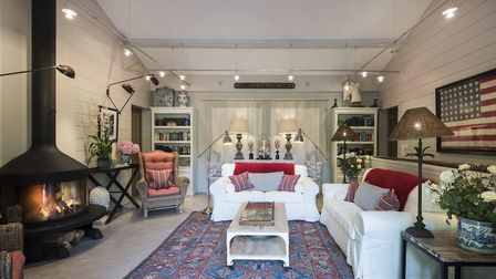 For this project Dorsch created a Ralph Lauren inspired beach home for her clients