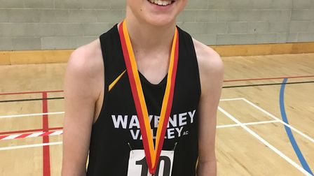 Waveney AC Junior's Joel Burgess added to his two gold medals in the Suffolk Championship with a gol