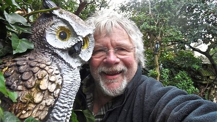 Bill Oddie in his ludicrous garden in Hampstead, taken from Tales Of A Ludicrous Bird Gardener by Bi
