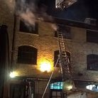 Firefighters tackled the blaze at Camden Lock's market. Picture : LFB