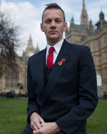 Mark Ward outside the Houses of Parliament. Picture: PA Images