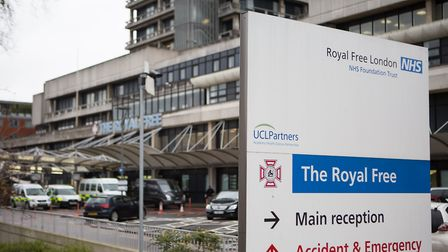 The entrance to the Royal Free Hospital Photo: Daniel Leal-Olivas/PA Wire