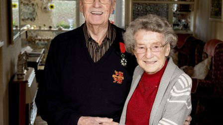 George and Phyllis Nutburn have celebrated their 72nd anniversary.Picture: Nick Butcher