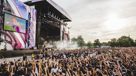Main stage at the Wireless Festival in Finsbury Park in 2015