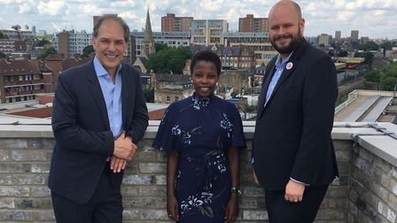 Pocket CEO Marc Vlessing, Cllr Sem Moema (the mayor's advisor for private renting and housing afffor