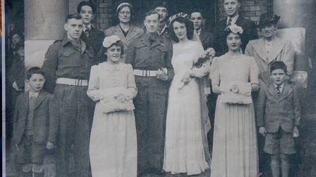 George and Phyllis Nutburn on their wedding day 72 years ago.Picture: Courtesy of Mr and Mrs Nutburn
