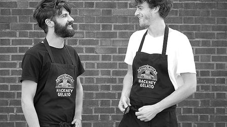 Hackney Gelato founders Sam Newman and Enrico Pavoncelli. Picture: Hackney Gelato
