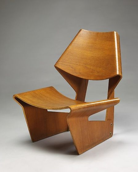 Moulded plywood chair designed by Grete Jalk, 1963, � Victoria and Albert Museum, London