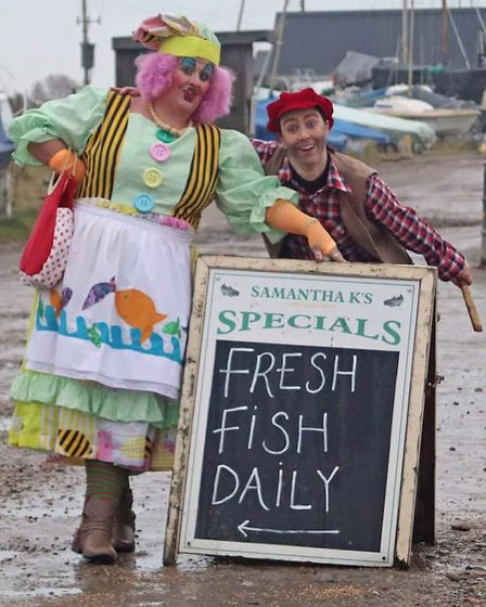 Cast members from the Reydon and Southwold Pantomime visit Southwold. Pictures: Tina Knights