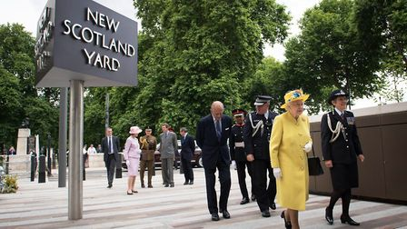 The figures coincided with the Queen's opening of the new Metropolitan Police headquarters, New Scot