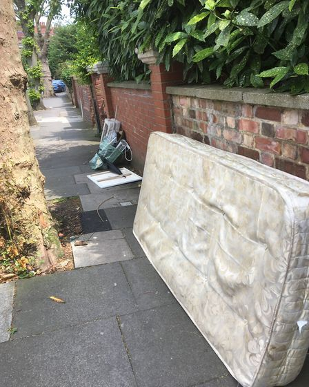 Flytippers make their mark in the Miltons, Highgate. Picture: CHRISTOPHER RILEY