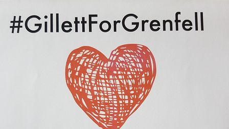 The Gillett for Grenfell logo which will be put on t-shirts for sale