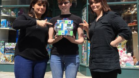 Staff at Fagins Toys have got their odd one out object ready. Picture: ZOE NORFOLK