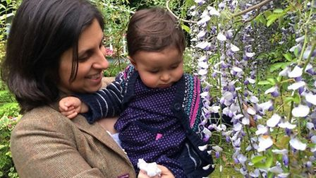 Nazanin with her daughter Gabriella.