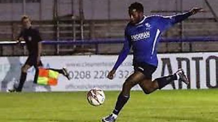 Reece Beckles-Richards in action for Wingate & Finchley (pic: Martin Addison).