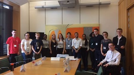 Students met Haringey councillor Adam Jogee during the summer school. Picture: FRANKIE GRANT