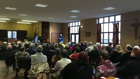 The first Save Our Record Office (SORO) meeting held at the Stella Maris Hall in Lowestoft. Picture: