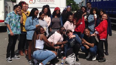 Music group Urban Flames arriving in Birmingham ahead of their performance at the Music for Youth Na