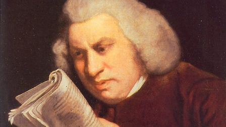 A portrait of Samuel Johnson painted by Joshua Reynolds in 1755, pulling the kind of expression one
