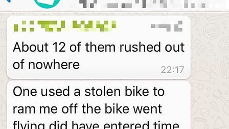 Courier riders are alerting each other to the attacks in a WhatsApp group.