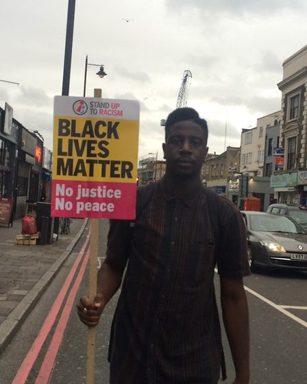 Jermain Jackman on the march. Picture: Emma Bartholomew